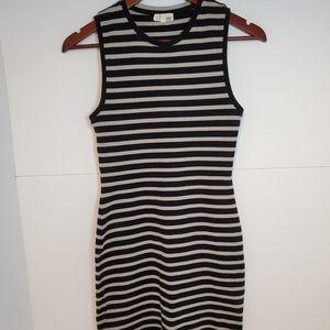 Aritzia wilfred free seymour striped bodycon dress